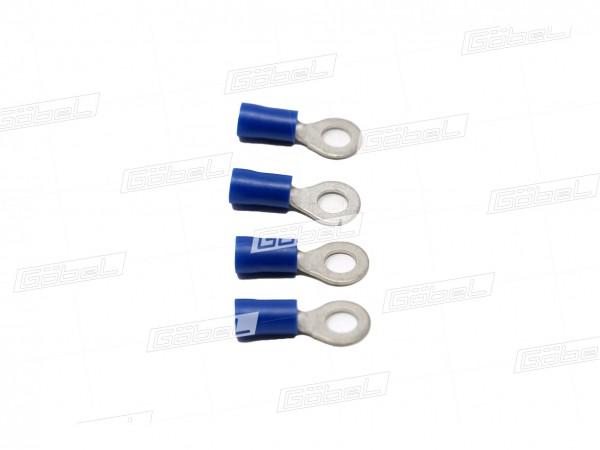 Kabelschuh blau mit Zapfen M5