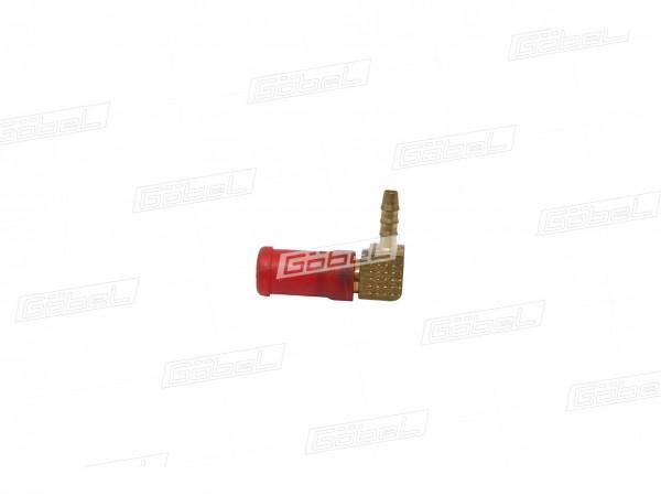 Winkel Stecker Typ 90° mit Rohranschluss NG 08
